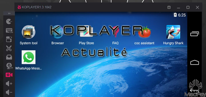 Android sur Windows : KOPLAYER