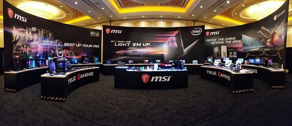 msi gaming room CES 2018