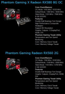 ASRock Phantom Gaming AMD RX 500