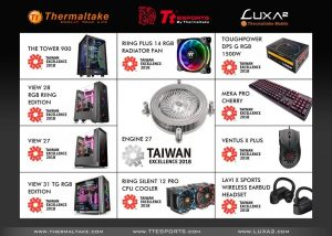 thermaltake ttesport luxa2 Taiwan Excellence 2018