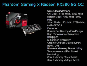 ASRock Radeon RX 580 Phantom Gaming X