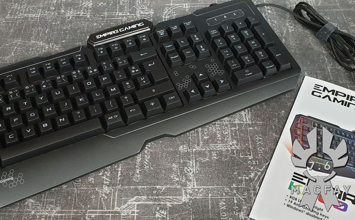 [UNBOXING/TEST] Clavier Empire Gaming K900